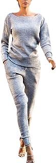 YIPIN 3 Pezzi Felpa Tuta da Ginnastica Cappotto Donna Completi Sportivi Autunno InvernaleAccollato Pullover Hoodie Giacca Gilet+Felpa con Cappuccio+Pantaloni