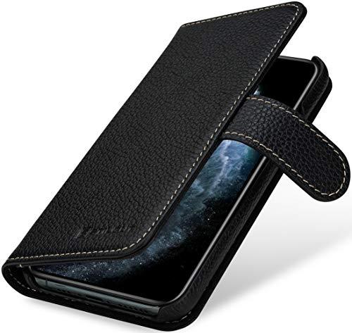 StilGut Talis kompatibel mit iPhone 11 Pro Hülle mit Kartenfach aus Leder, Wallet Hülle, Handyhülle mit Fächern und Magnetverschluss – Schwarz