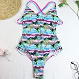 Eantpure Bikinis Mujer 2087 Push up Bikini,Moda Delgada Sexy cómoda, Tiras con Cuello en V, Traje de baño de una Pieza-A_X_Large,Tangas Swimsuit