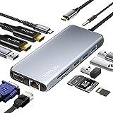 NIMASO Docking Station,12 in 1 USB C Hub mit Triple Display,Dual 4K HDMI&VGA,100W PD,2*USB 3.0&2.0,...