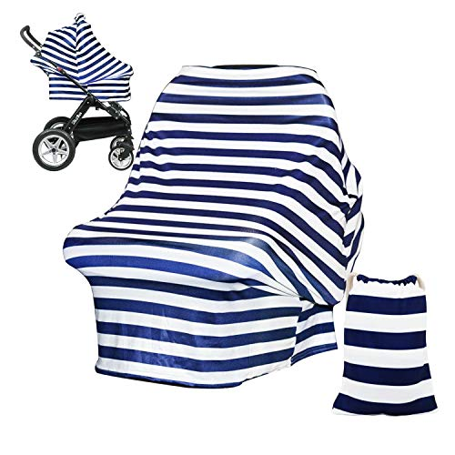 Cheapest Prices! DSYJ Nursing Cover Baby Breastfeeding Scarf with Free Matching Pouch, Car Seat Cove...