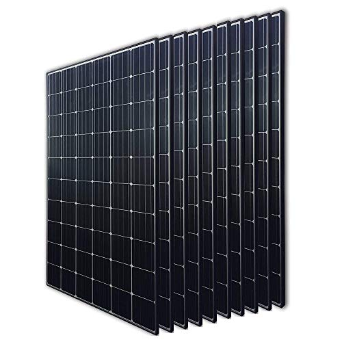 Renogy 10Pcs 300 Watt 24 Volt Monocrystalline Solar Panel 3000W for Off-Grid On-Grid Large Solar System, Residential Commercial House Cabin Sheds Rooftop, Multi-Panel Solar Arrays