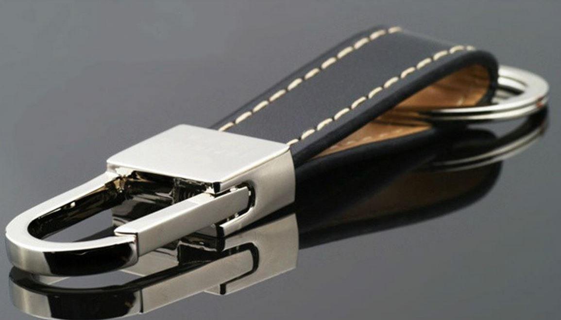 Groupcow Men's Fashion Luxury Soft Leather Belt Car Keychain Key Ring Chain Keyring (KE0001)