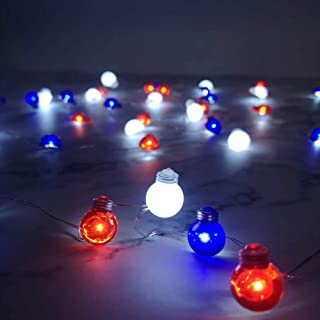 red blue christmas lights