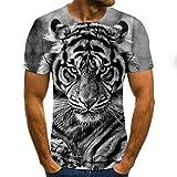 SSBZYES Camiseta para Hombre Camiseta De Verano De Manga Corta para Hombre Camiseta De Gran Tamaño para Hombre Camiseta Suelta Informal De Pareja Lobo Moda 3D Camiseta Trend Manga Corta