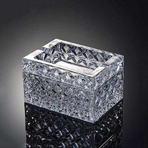 ZXL asbak van kristalglas, creatief, vierkant, met bijzettafel voor de woonkamer