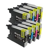 ULMAX JAPAN brother(ブラザー) 互換インクカートリッジ (BK顔料/C/M/Y) LC12-4PK (4色セットx2セット)