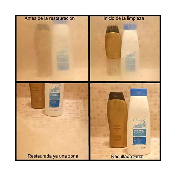 Kit de productos para quitar la cal de la mampara de ducha y aplicarle protección antical | Contiene 3 envases…