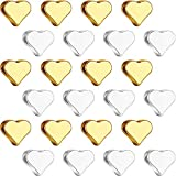 300 Pieces Heart Beads Valentine's Day Heart Spacer Beads Small Hole Metal Loose Beads Heart Shaped DIY Beads for Making Bracelet Necklace Earring Accessories Handmade Charms Gold and Silver 2 Colors