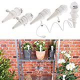 Royal Gardineer Bewässerungskegel: Topfpflanzen-Bewässerungs-System mit Tonspitze und Schlauch, 5er-Set (Bewässerungsanlage)