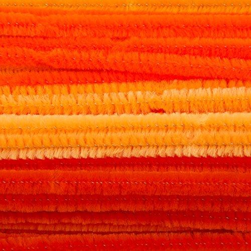 Vaessen Creative 1601-008 Pfeifenreiniger zum Basteln und Dekorieren, Cheniulle, Orange, 30 x 0.8 x 0.1 cm, 50-Einheiten