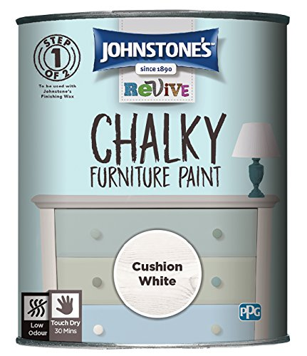 Johnstone's 386500 Revive Chalky Furniture Paint, Cushion White