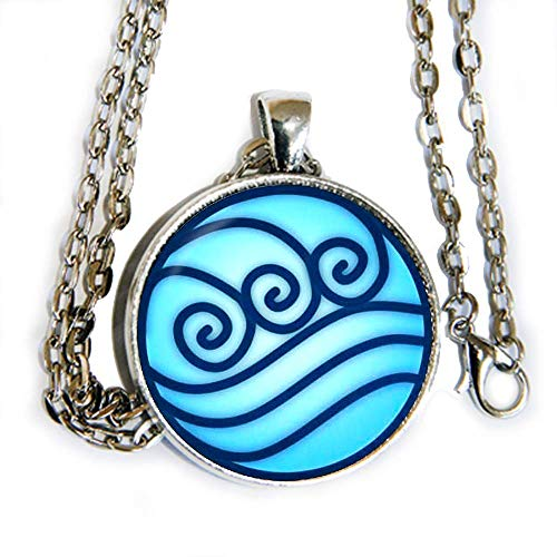 Avatar The Last Airbender Water Tribe inspired symbol - Legend of Korra - pendant necklace - HM