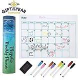 Planner magnetico mensile per frigorifero - Calendario lavagna bianca A3 - Perfetta agenda...