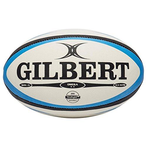 Gilbert Omega - Balón de rugby blanco blanco Talla:5