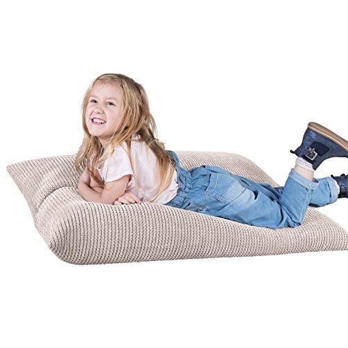 Lounge Pug®, Kinder Sitzkissen, Sitzsack, Pom-Pom Creme