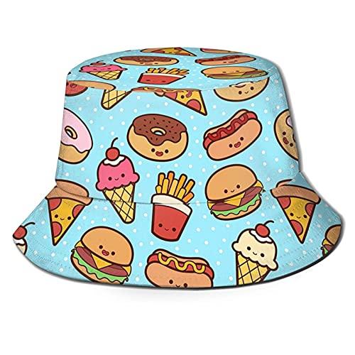 huatongxin Pizza Food Ice Cream Burger Donut Cappello da Pescatore con Stampa Unisex Cappello da...