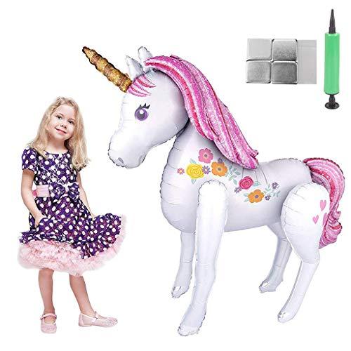 Tumao Unicornio Globos Grandes, Decoraciones de Fiesta de Cumpleaños Súper Unicornio Grande Modelo Globo de Papel de Aluminio, Juguetes para la Boda, Regalo de los niños