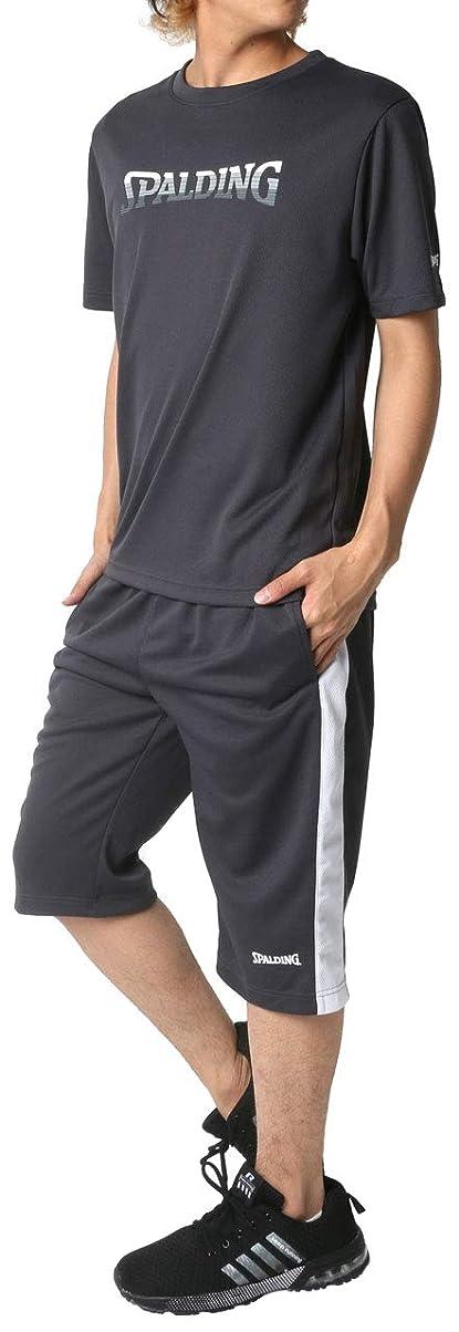 在庫付録ロッジ[スポルディング] ランニングウェア 上下セット ドライ Tシャツ ジャージ ボトム ショートパンツ メンズ