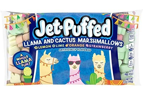 Jet-Puffed Llama and Cactus Marshmallows - pack of TWO (2)