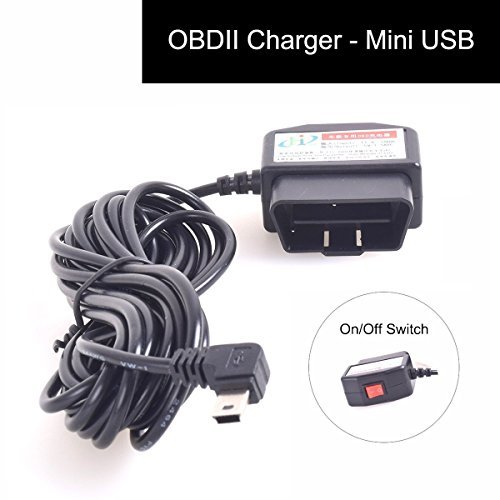 12-24V Coche OBD2 Dash Cámara DVR Carga Cable Mini USB Adaptador con...