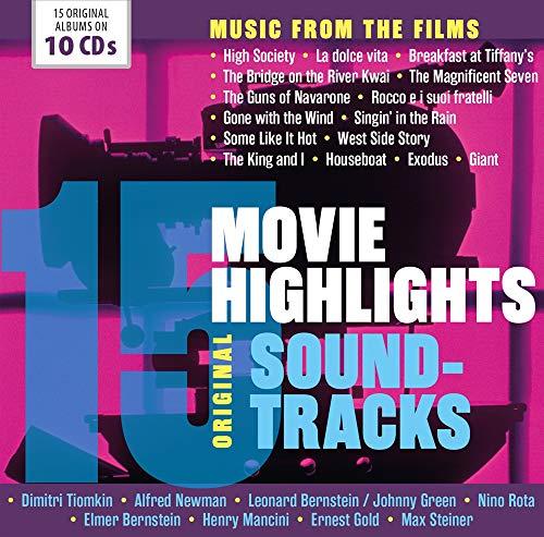 15 Movie Highlights - Original Soundtracks - Breakfast At Tiffany s, Vom Winde verweht, West Side Story, Manche Mögen s Heiß, La dolce vita, Die oberen Zehntausend, Der König und Ich
