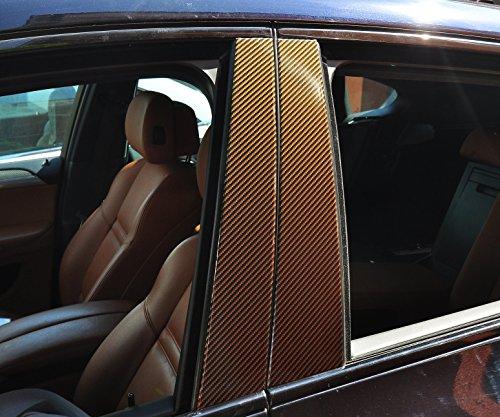 6x Carbon Grau Türzierleisten Verkleidung B Säule Türsäule passend für Ihr Fahrzeug