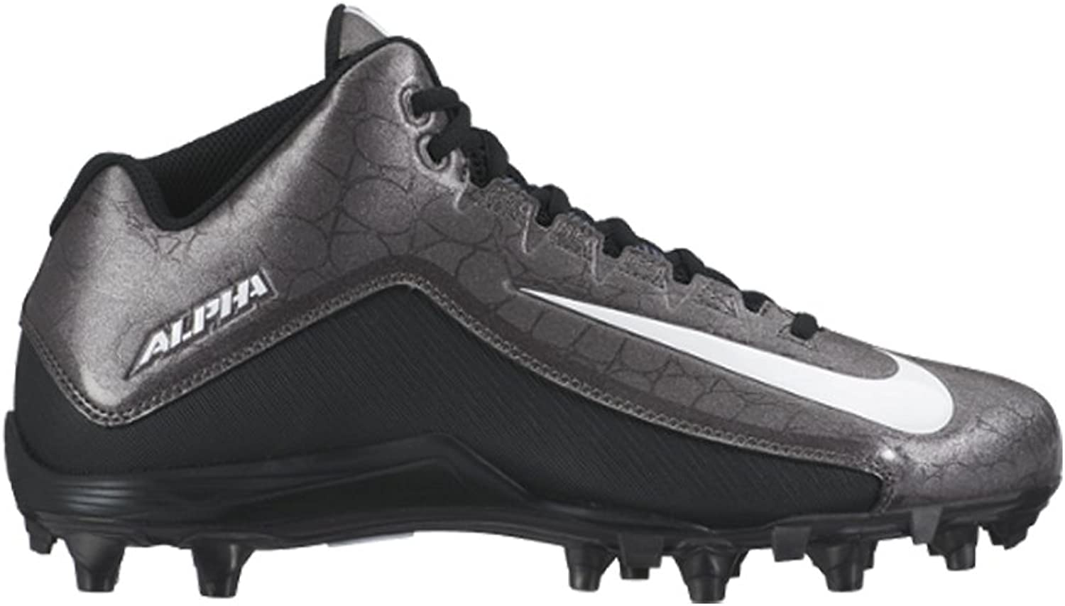 NIKE Mens Alpha Strike 2 Three-Quarter Football Cleat schwarz Dark grau Weiß Größe 13 M US
