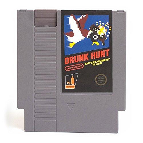 Drunk Hunt Video Game Cartridge Flask