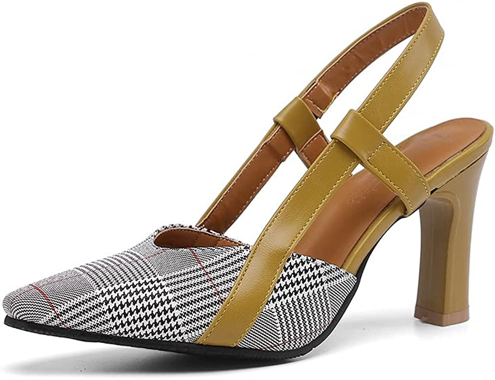 CosyFever Womens LC43 Grid 67% OFF of fixed price Comfort Heeled Pu High Fashion Chunky Trust