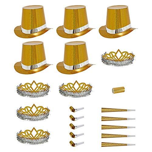WIDMANN - Party Kit Las Vegas Olografico Unisex-Adult, Oro, Taglia Unica, VD-WDM6644O