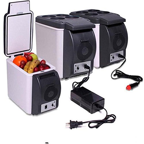 HongXJRéfrigérateur thermoélectrique portatif de voyage de réfrigérateur de la mini réfrigérateur 12V 6L de voiture
