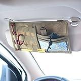 LIVIQILY Tactical Molle Vehicle Visor Panel Car Sun Visor Organizer Holder Pouch Sunshade Storage Bag (Tan)