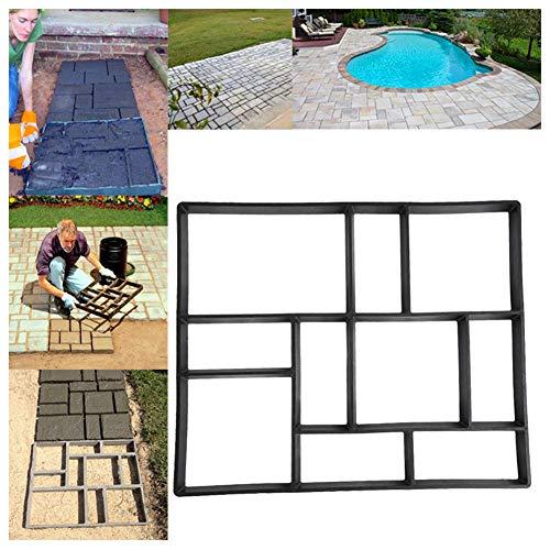 23.6' x 19.7' x 1.97' Paver Molds for Concrete, 10 Grid DIY Paving Pavement Molds Concrete Mold for Stepping Stone Brick, Garden Path Maker Mold Lawn Concrete Paver Walkway Molds, Rectangular Patterns