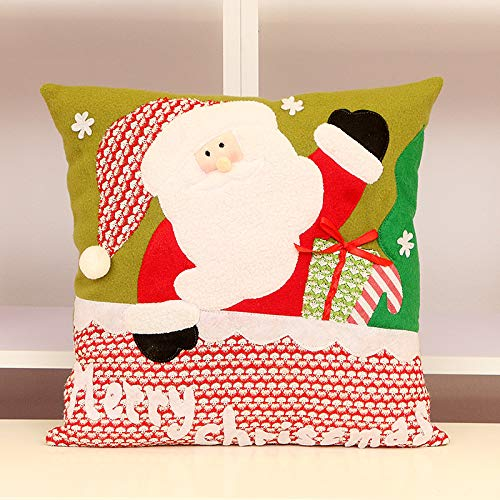 CXMASS Ebay Christmas Pillow Santa Snowman Pillow Cojín 35 * 35Cm 1