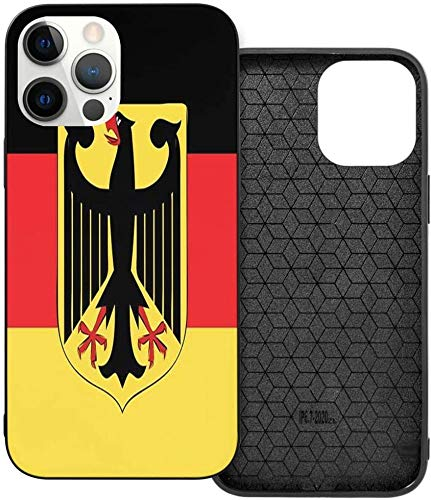 Phone Case Flag of Germany with National Motto iPhone 12/12 Pro/12 Pro MAX /12 Mini(2020),Liquid TPU Silicone Gel Full Body Shockproof Drop Protection Case Beautiful and Handsome