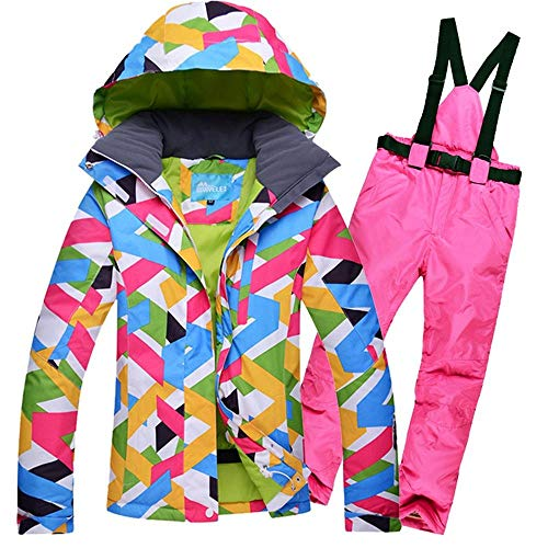 Mimioore Sneeuw-winterskipak set merk dames snowboard-jas water- en winddichte sneeuwmantel en broek-vrouwen skiën