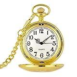 Reloj de bolsillo elegante clásico.Reloj de bolsillo, clásico vintage grabado patrón accesorios moda reloj de moda damas bolsillo reloj estudiante bolsillo reloj negocios tendencia de negocios reloj d