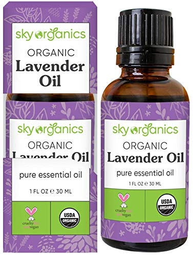 Best Lavender Essential Oil By Sky Organics-100% Organic, Pure Therapeutic French Lavender Oil For Diffuser, Aromatherapy, Headache, Pain, Meditation, Anxiety, Sleep-Perfect For Candles &Amp; Massage 1Oz
