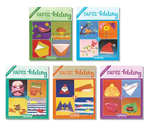 Paper Folding Origami colouring Book set of 6 Books with 22 Colourful Sheets in each book for Kids 2yrs - 12yrs
