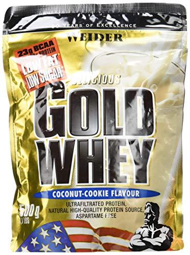 Weider Gold Whey Proteine del Siero di Latte, Sapore Cocco Cookies - 500 Gr