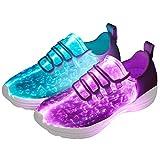 DIYJTS LED Light Up Shoes for Men Women, Light Fiber Optic LED Shoes Luminous Trainers Flashing Sneakers for Festivals, Christmas,...