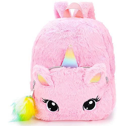 BETOY Plüsch Mini Einhorn Rucksack, niedlich Plüsch Einhorn Rucksack für Mädchen Schultasche Reisetasche Kleine Mädchen Jungen Tier Rucksäcke Geschenke