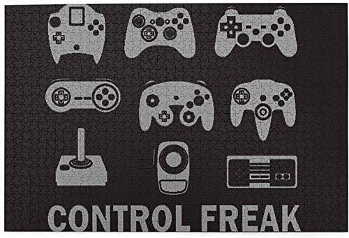 1000 piezas Funny Control Freak Video Gamer Jigsaw Puzzle, divertido juguete educativo para niños de 12 años, adolescentes, adultos y familias.Juegos educativos Puzzle de decoración del hogar, tamaño