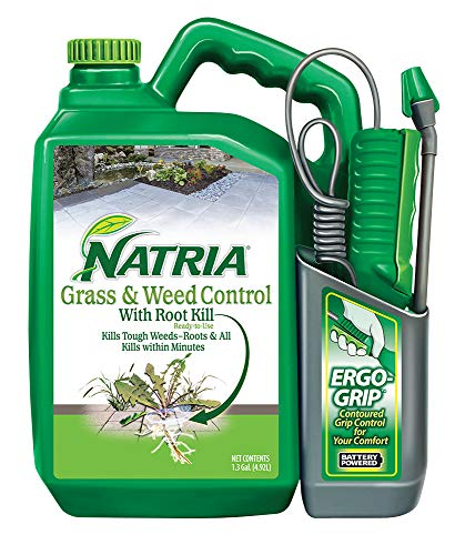 Natria 706510A Grass & Weed Control with Root Kill Herbicide Weed Killer, Ready-to-Use, 1.3-Gallon, Concentrate