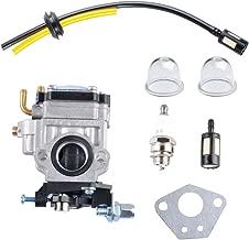 Wadoy Carburetor for Husqvarna 145BT Backpack Blower Parts with Fuel Line Kit, Spark Plug