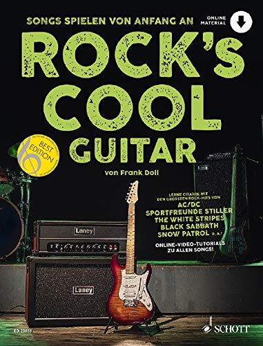 Rock's Cool GUITAR: Songs spielen von Anfang an. Gitarre. Ausgabe mit Online-Audiodatei.