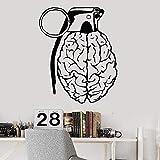 wZUN Creativo Cerebro Pensamiento anatomía Vinilo Pared calcomanía decoración del hogar salón Pared Pegatina Regalo 43X53cm