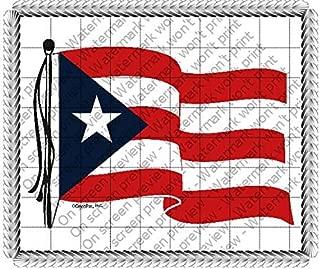 1/2 Sheet - Puerto Rican Flag Birthday - D319 - Edible Cake/Cupcake Party Topper