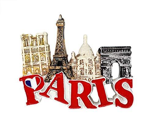 zamonji Hito de París, Francia - Imán de Nevera de Resina 3D, Recuerdo Turístico de Viaje